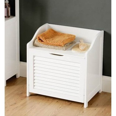 White Shutter Laundry Storage Cabinet - 1600902 Profile Large Image