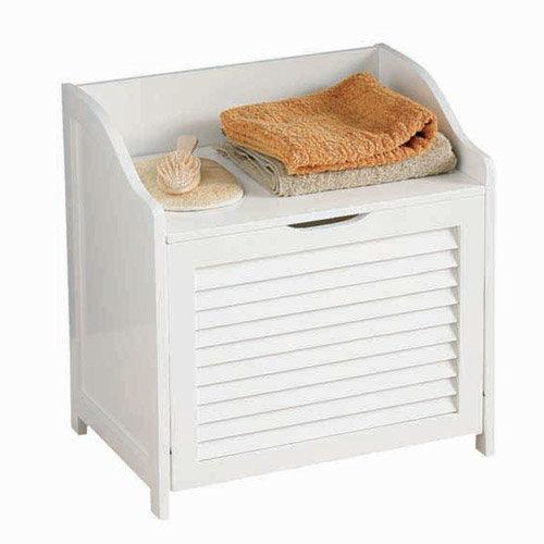 White Shutter Laundry Storage Cabinet - 1600902 Large Image