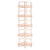 5 Tier Copper Finish Corner Storage Rack profile small image view 1