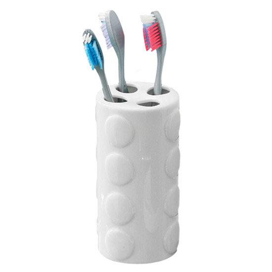 white ceramic toothbrush holder images