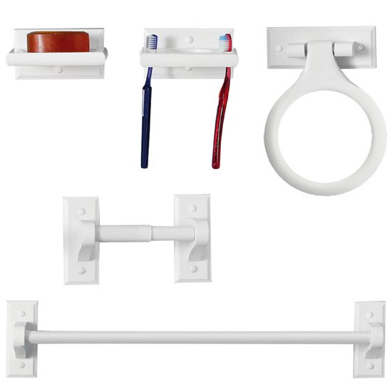 white wood wall mounted bathroom set at victorian plumbing uk - Wooden Bathroom Accessories Uk