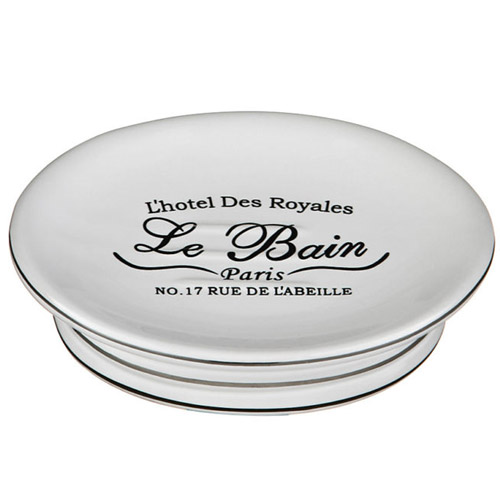 'Le Bain' White Ceramic Soap Dish - 1601338