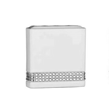 White Radiance Ceramic Toothbrush Holder - 1601345 Large Image