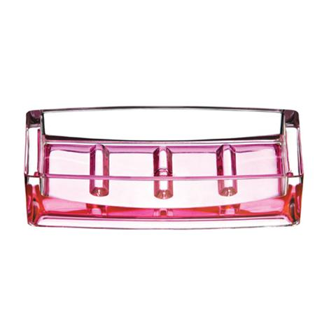 Hot Pink/Clear Acrylic Soap Dish - 1601358