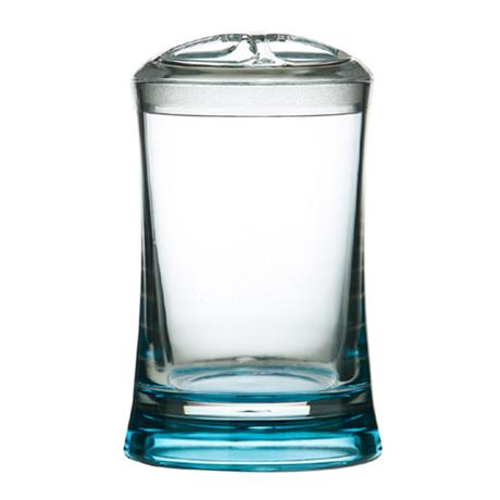 Turquoise/Clear Acrylic Toothbrush Holder - 1601361