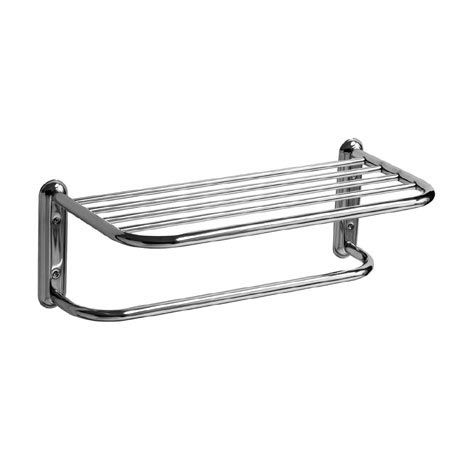 Chrome Wall Mounted Towel Shelf
