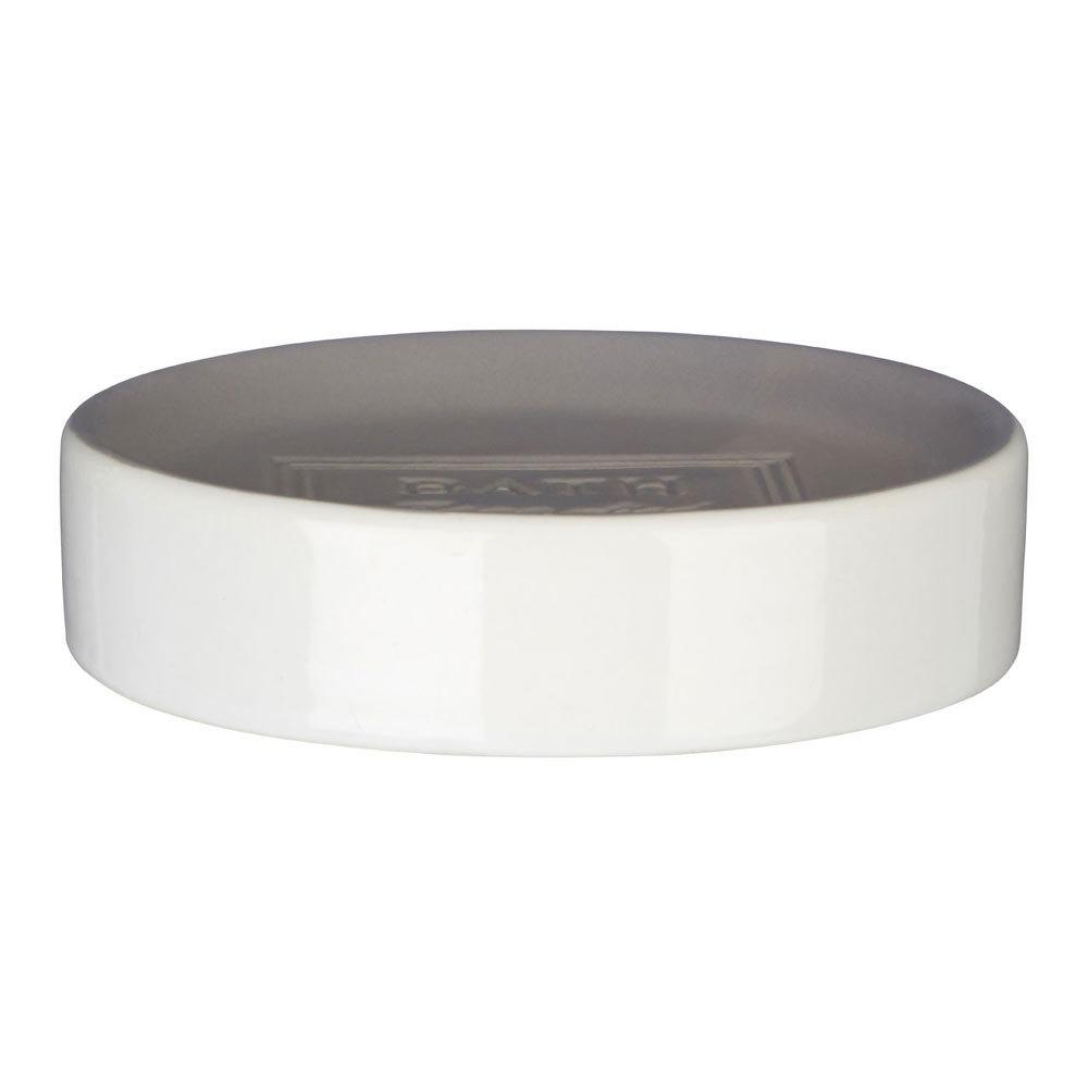 Vida Grey/White Soap Dish