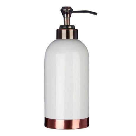 Delta White/Copper Lotion Dispenser