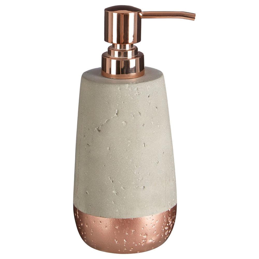 Neptune 200ml Lotion/Soap Dispenser - Concrete & Copper
