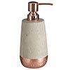 Neptune 200ml Lotion/Soap Dispenser - Concrete & Copper profile small image view 1
