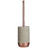 Neptune Toilet Brush Holder - Concrete & Copper profile small image view 1