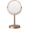 Neptune Round Swivel Bathroom Mirror - Concrete & Copper profile small image view 1