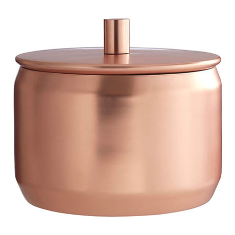 Madison Shine Copper Finish Storage Canister