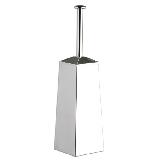 Square Stainless Steel Tapered Shape Toilet Brush - 1602011 Large Image