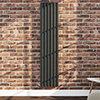 Monza 1600 x 355 Vertical Anthracite Designer Radiator profile small image view 1