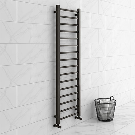 Brooklyn Black Nickel 1600 x 500mm Straight Heated Towel Rail