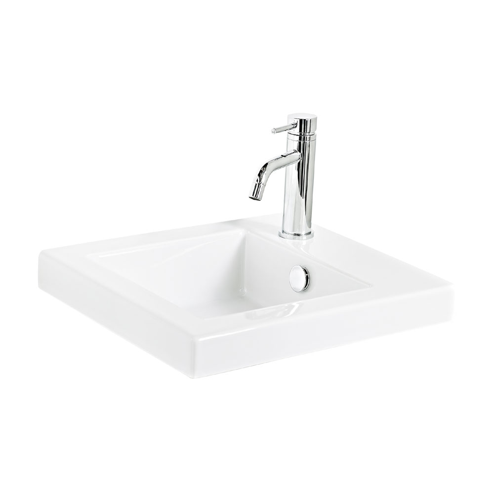 Miller - 405mm Ceramic Basin with Right Hand Tap Hole - 165W1 Large Image