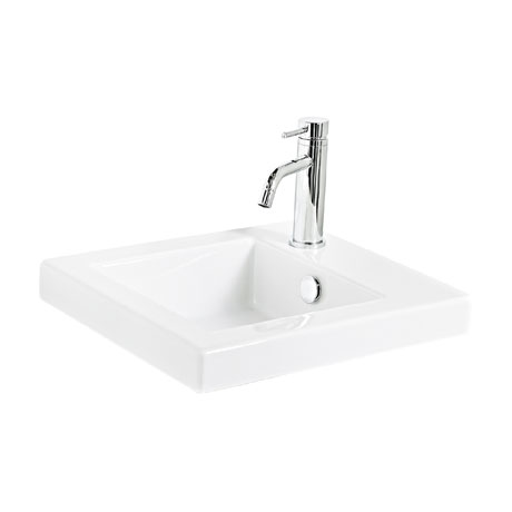 Miller - 405mm Ceramic Basin with Right Hand Tap Hole - 165W1