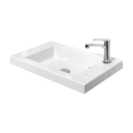 Miller - 600mm Ceramic Basin with Right Hand Tap Hole - 166W1