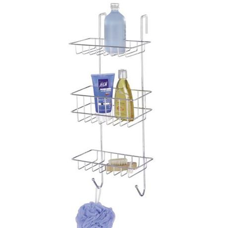 Wenko Revigo 3 Tier Shower Rack - Chrome - 16777100