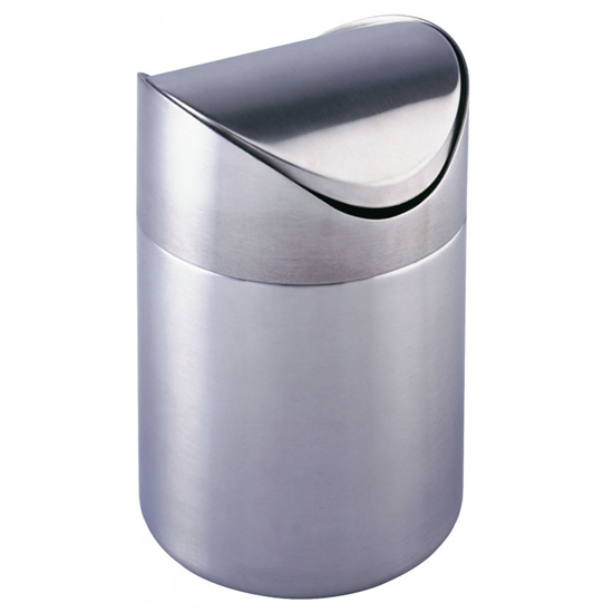 Wenko Otranto 3 Litre Cosmetic Bin - Stainless Steel - 16800100 profile large image view 1