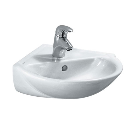 Laufen - Pro 1 Tap Hole Corner Basin - 2 x Size Options