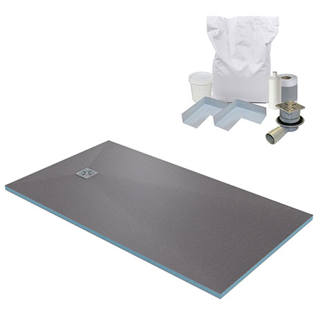 1600 x 900 Wet Room Walk In Rectangular Tray Former Kit (End Waste)