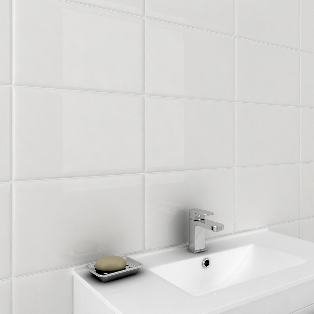 17 Bright Gloss White Wall Tiles | Online At Victorian Plumbing.co.uk