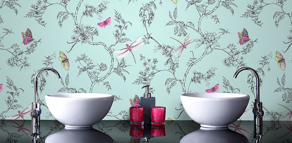 Enjoyable 17 Stylish Bathroom Wallpaper Ideas Victorian Plumbing Interior Design Ideas Oteneahmetsinanyavuzinfo