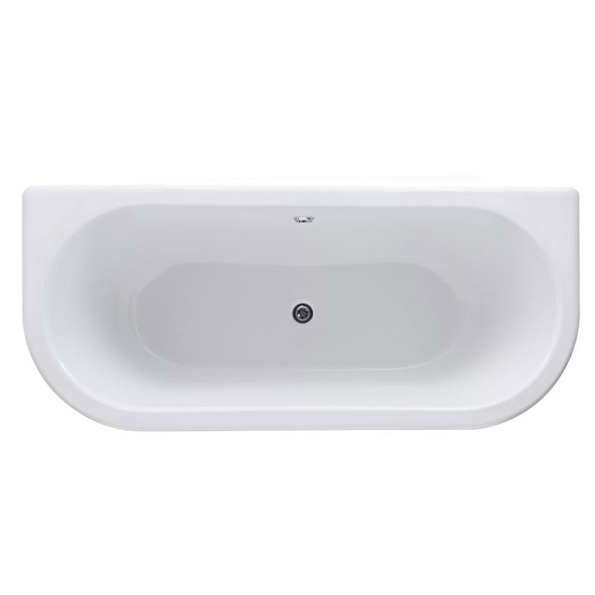Premier 1700 Double Ended Back to Wall Roll Top Bath Inc. Chrome Legs profile large image view 2