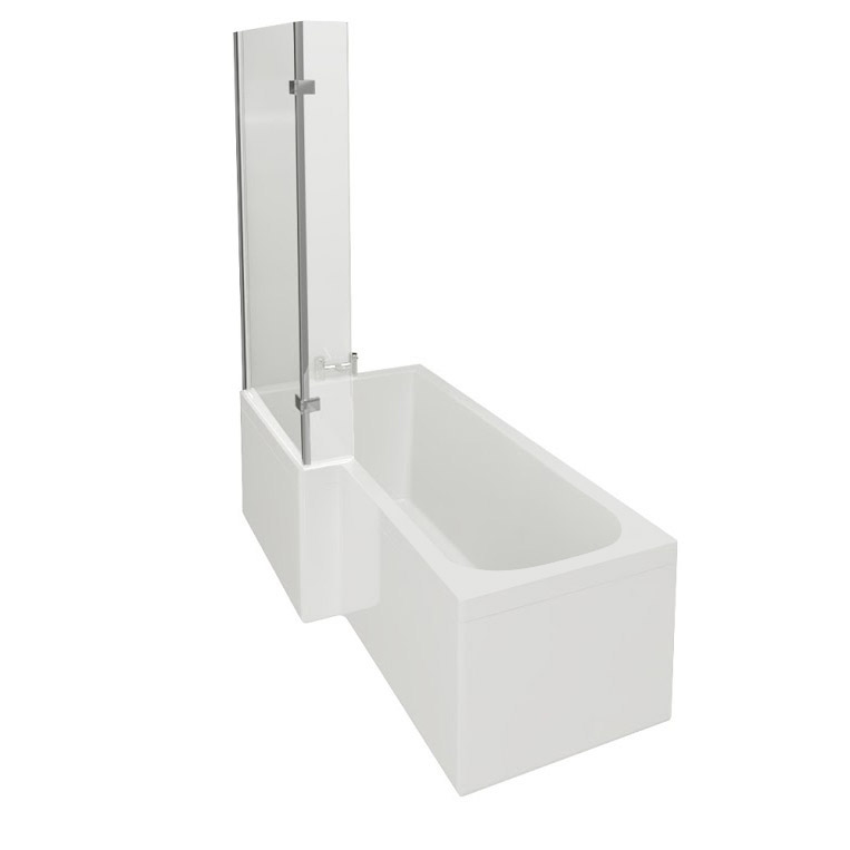 1700mm square shower bath with hinged screen at victorian square shower bath from better bathrooms shower baths