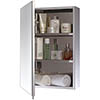 Euroshowers One Door Stainless Steel Mirror Cabinet - 17030 profile small image view 1
