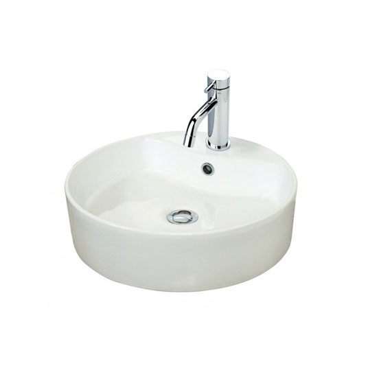 Miller - 460mm Round Countertop Ceramic Basin - 171W1 profile large image view 1