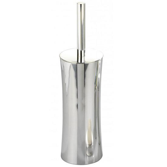Wenko Pieno Shiny Toilet Brush & Holder - Stainless Steel - 17279100 profile large image view 1