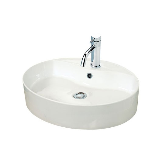 Miller - 550mm Oval Countertop Ceramic Basin - 173W1 profile large image view 1