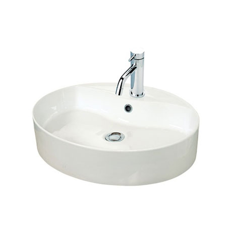 Miller - 550mm Oval Countertop Ceramic Basin - 173W1
