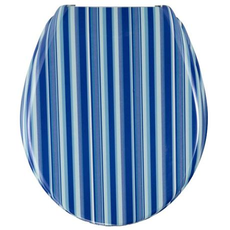 Outstanding Wenko Blue Stripes Duroplast Toilet Seat 17418100 At Short Links Chair Design For Home Short Linksinfo