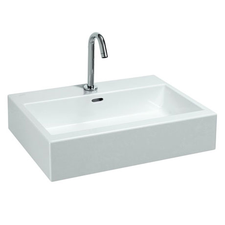 Laufen - Living City 1 Tap Hole Basin with Ground Base - 2 x Size Options