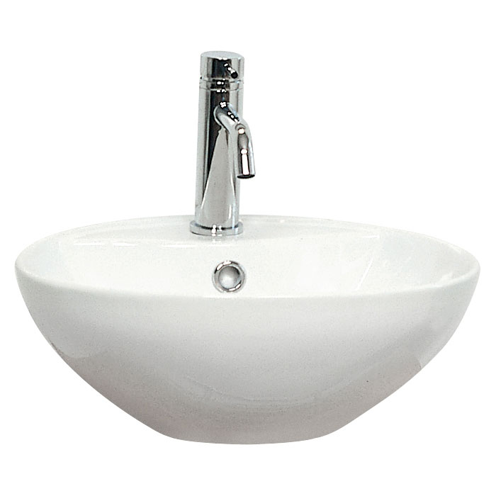 Miller - 400mm Round Countertop Ceramic Basin - 174W1 profile large image view 1