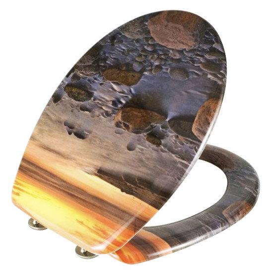 Wenko Stone Shore Duroplast Toilet Seat - 17612100 profile large image view 3