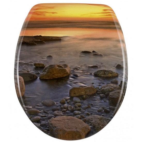 Wenko Stone Shore Duroplast Toilet Seat - 17612100 Large Image