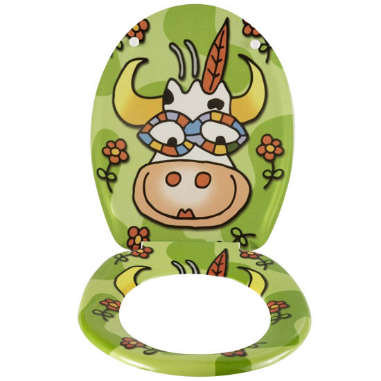 Wenko Crazy Cow Duroplast Toilet Seat - 17616100 profile large image view 2