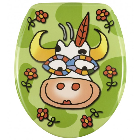 Wenko Crazy Cow Duroplast Toilet Seat - 17616100 profile large image view 1