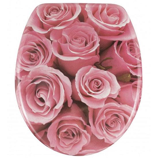 Wenko Rose Bouquet Duroplast Toilet Seat 17653100 At