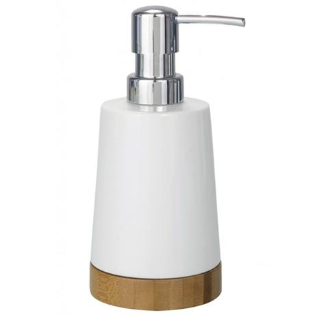 Wenko Bamboo Ceramic Soap Dispenser - 17678100