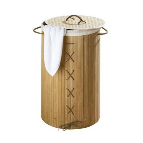 Wenko Bamboo Laundry Bin - 2 Colour Options
