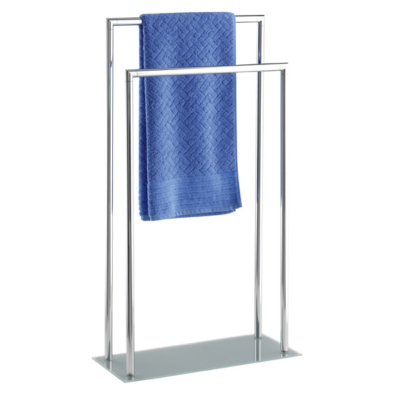 Wenko Style Towel and Clothes Stand - Chrome - 17775100 profile large image view 1