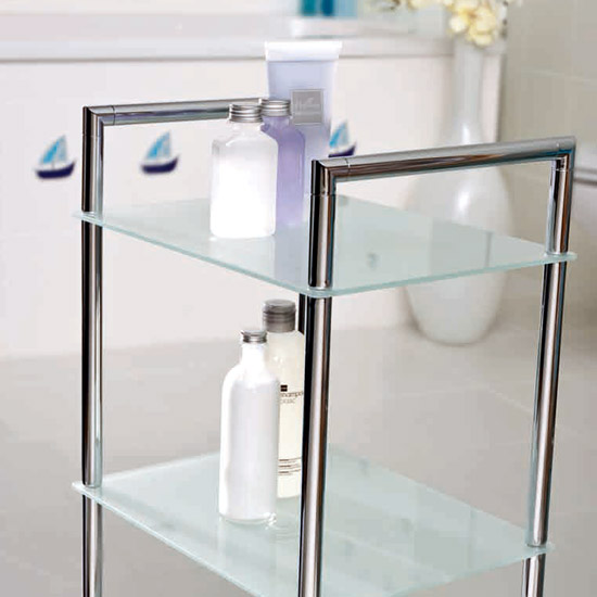 Wenko Style Bathroom Rack - Chrome - 17777100 Profile Large Image