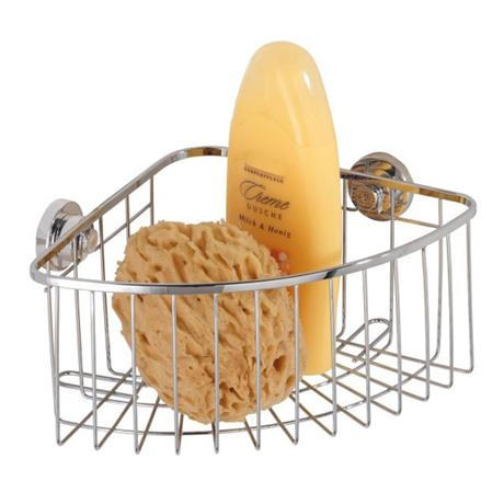Wenko Bovino Power-Loc Corner Basket - Stainless Steel - 17792100