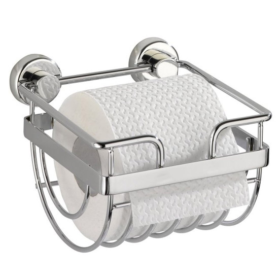 Wenko Sion Power-Loc Toilet Paper Holder - Chrome - 17822100 profile large image view 1